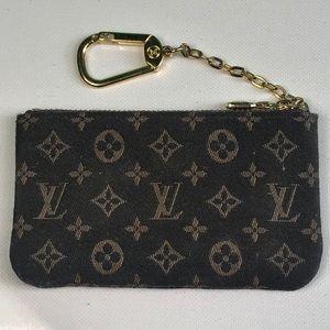 Louis Vuitton Monogram Coin Purse Keychain Wallet